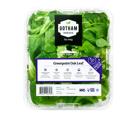 An homage to the Brooklyn neighborhood where Gotham Greens was founded, our Oak Leaf lettuce is as distinguished as the mighty oak tree with a tender, delicate and mild flavor. Dresses exceptionally well.